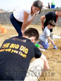 7th August 2013 - the Weston-super-Mare Museum have a great activity for kids over the summer called the Big Dig, and for the One Show Summer Festival on Weston seafront, the Museum brought the Big Dig down to the beach.