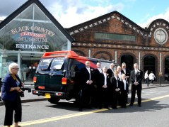 7th September 2013 - this is a video screen grab from the footage from the weeding I filmed - the groom turned up in an A-Team wagon!