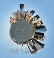 13th September - It's not often I play about with Photoshop, so thought I'd have a go at making a tiny planet, out of one of my New York images from last year