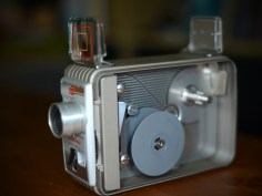 10th October 2013 - I've got a number of old stills and cine cameras and this is by far my favourite one - a Kodak Brownie 8mm. It's clockwork and sounds fantastic when it's whirring away. Back in the early 90's when I first picked this up at a car boot, I put a reel through it, filming me and 2 of my brothers mucking around, spoofing Jurassic Park and generally being totally stupid. A couple of years ago I managed to duplicate it into a digital format and it's fantastic!