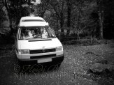 22nd October 2013 - Our little campervan parked up at the campsite outside Beddgelert. The Welsh Highland Railway passed just behind the van.