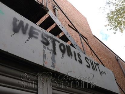 1st November 2013 - got to love the constructive, artistic grafitti in Weston-super-Mare!