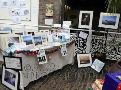 14th December 2013 - My table at the christmas Fair at the Weston-super-Mare Mueum