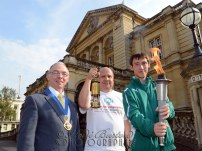 27th august 2013 - The Special Olympics Flame of Hope reaches Cheltenham