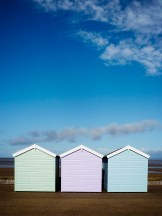 Beach huts on Weston-super-Mare seafront