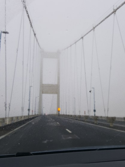 It's a bit yucky out today, heading over to Wales via the Severn Bridge #366for2016 #52 #wales #bridge