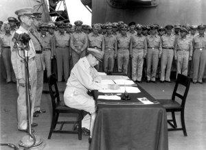 Gen. MacArthur on the U.S.S. Missouri