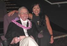 Film critic Roger Ebert and reporter Heidi Chang at the 2010 Hawaii International Film Festival