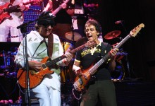 Guitarist Carlos Santana and bass player Benny Rietveld Photo ©Manny Pappanicholas