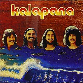 1970's Kalapana album cover - L to R: Mackey Feary, Malani Bilyeu, D.J. Pratt and Kirk Thompson