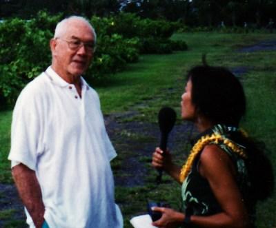 Heidi Chang interviews AHA founder Genesis Leeloy on Hawaii Island. Photo © Ed Johnston