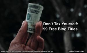 99 Free Blog Titles