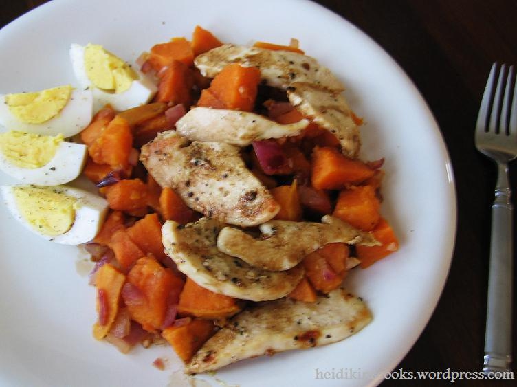 Sweet Potato Salad with Balsamic Glaze_072009