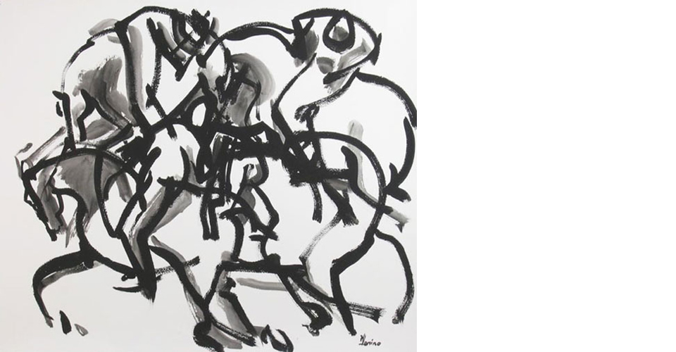 Polo-III-ink-paper-horse-24x30-OPT