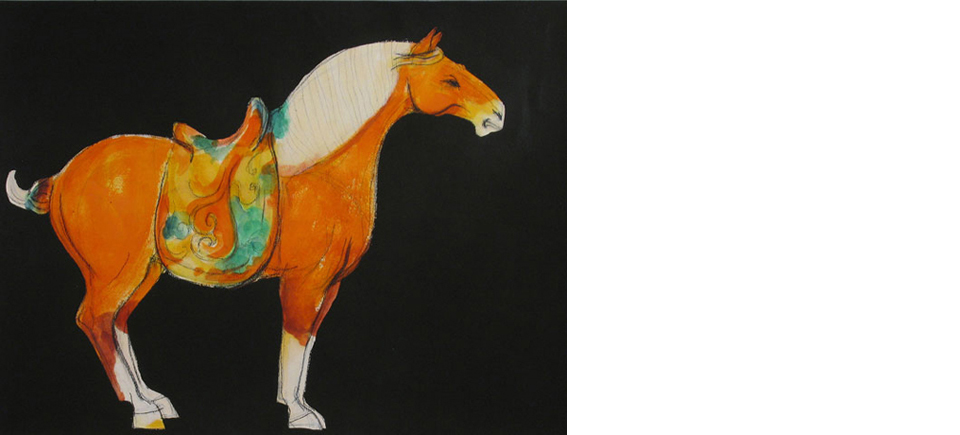Tang-Series-orange-horse-scroll-OPT