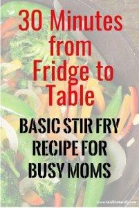 Basic stir fry recipe