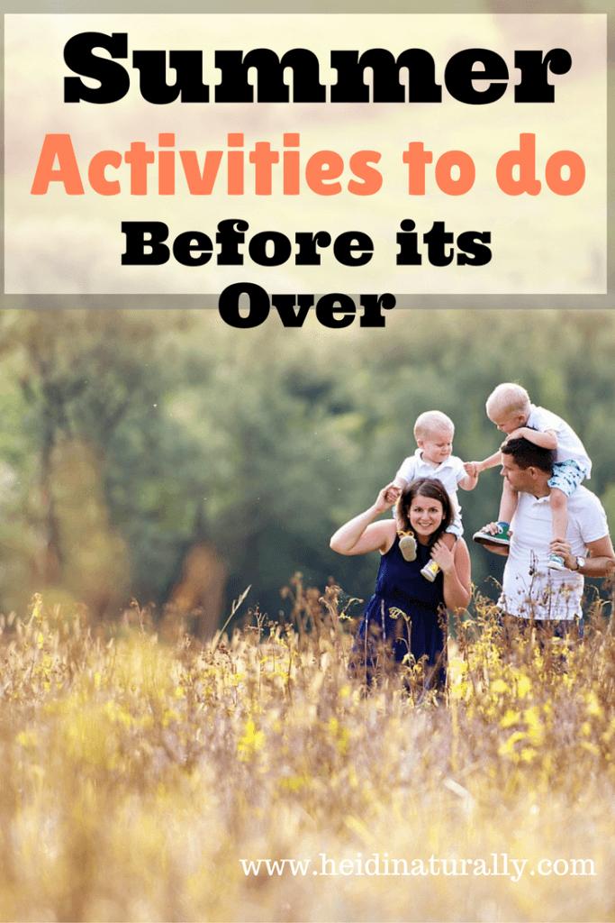summer activities with children