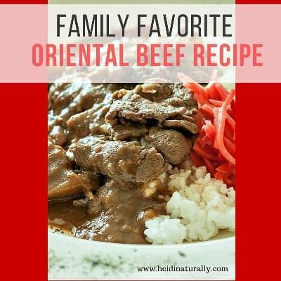 oriental beef recipe