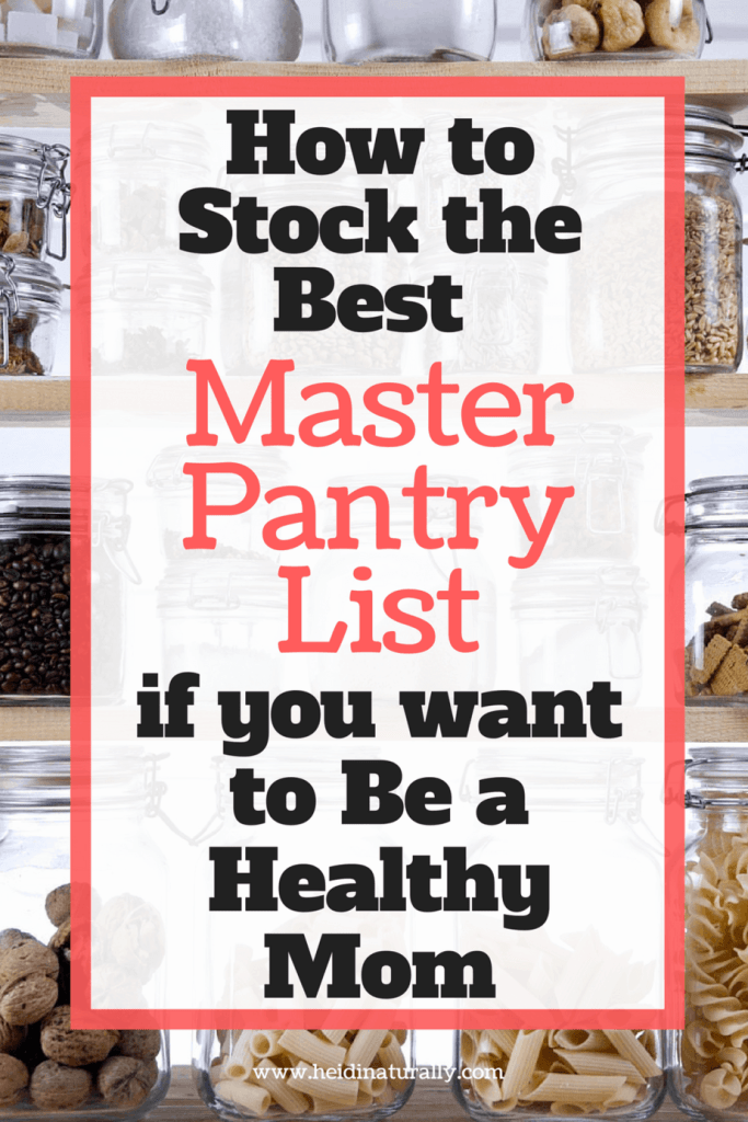 master pantry Find out what to store in your pantry for optimal wellness. Learn what items to purchase to help your family eat healthy & avoid bad foods. #pantry #masterpantry #healthy #mom