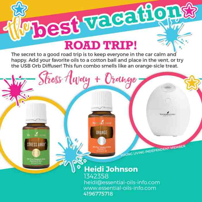 use essential oils on vacation
