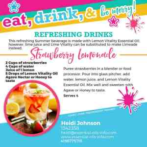 essential oil lemonade