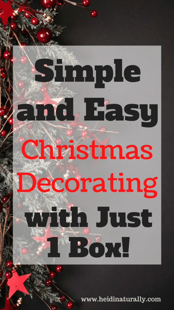 Find out how to decorate your home for Christmas with one box of decorations. Learn to make it look like you've spent hours decorating when it took minutes.