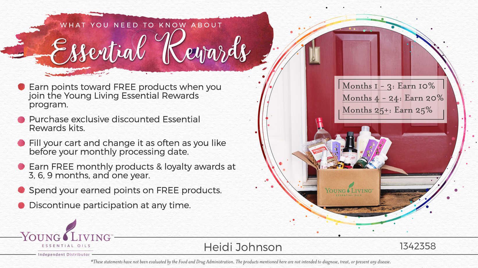 essential oil rewards