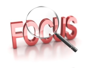don't loose sight by focusing too much