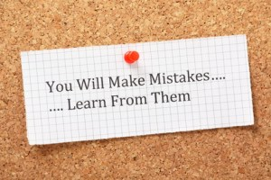 making a mistake isn't the problem