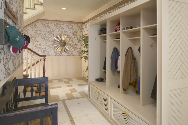 Mudroom by Interior Designer Boston & Cambridge, Heidi Pribell