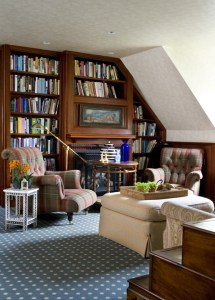 Library by Interior Designer Boston & Cambridge, Heidi Pribell