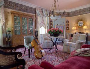 Music Room by Interior Designer Boston & Cambridge, Heidi Pribell