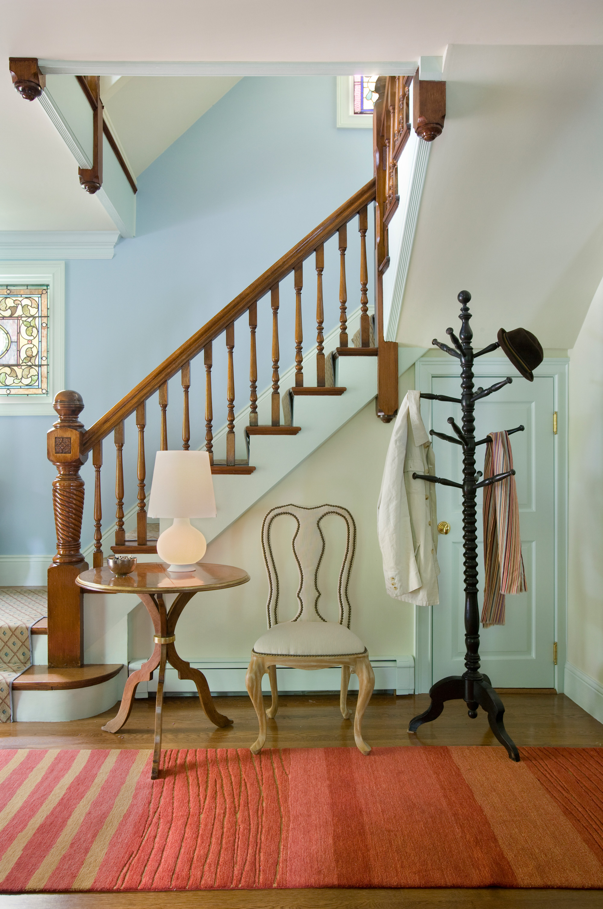 Entry Stairway by Interior Designer Boston & Cambridge, Heidi Pribell