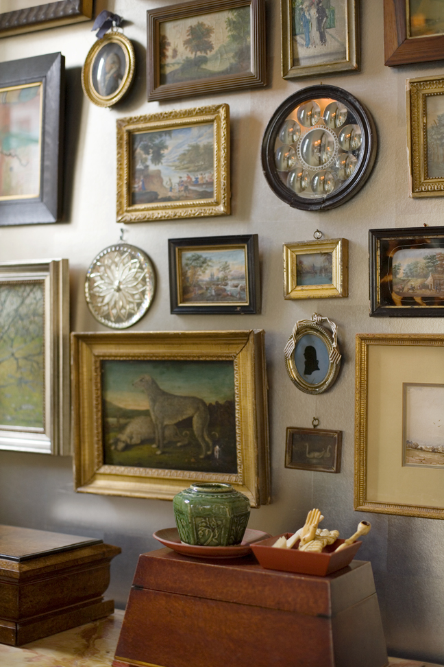 Heidi Pribell Vignette of paintings on the wall