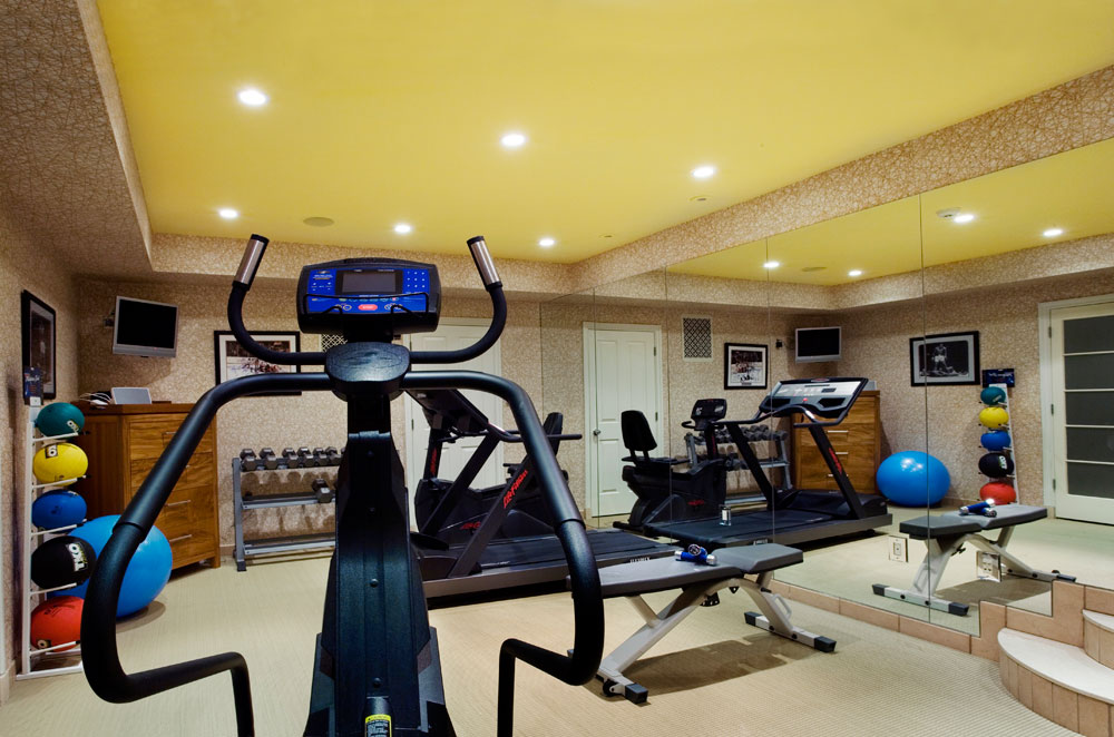 Exercise Room by Interior Designer Boston & Cambridge, Heidi Pribell
