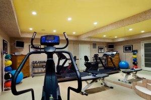 Exercise Room by Interior Designer Boston & Cambridge, Heidi Pribell