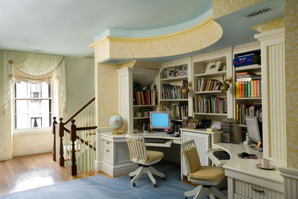 Study by Interior Designer Boston & Cambridge, Heidi Pribell
