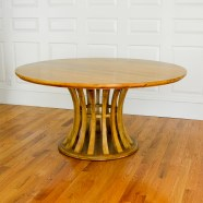 lot-1223_blonde-asian-hardwood-circular-pedestal-dining-table