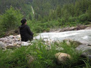 Heidi_Siefkas_sitting_near_lemon_Creek_juneau_alaska