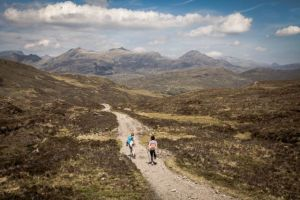 Two hikers on the West Highland Way just after the Devils Staircase - photo by Kathi Kamleitner