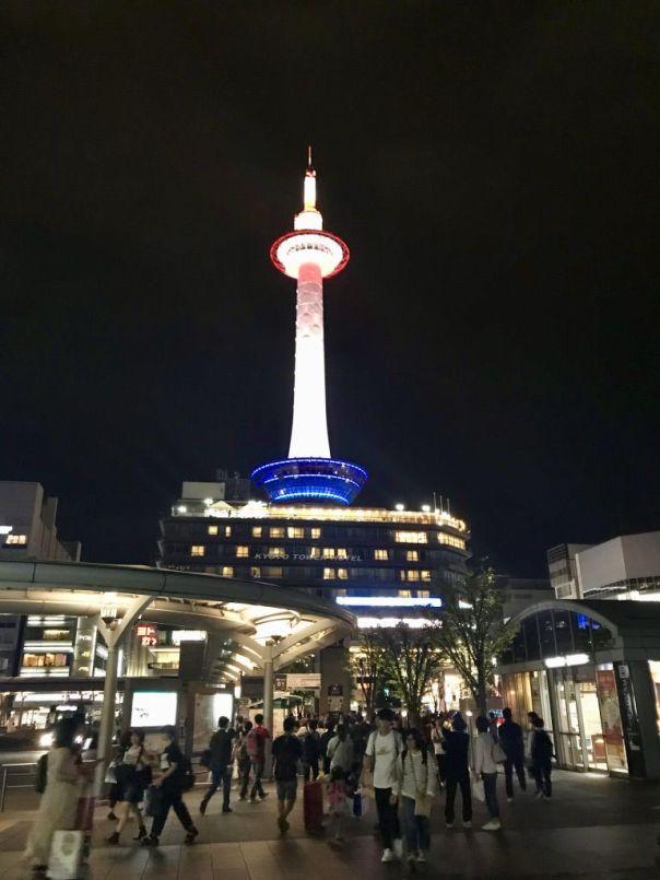 Kyoto_Tower_at_Night_by_Heidi_Siefkas