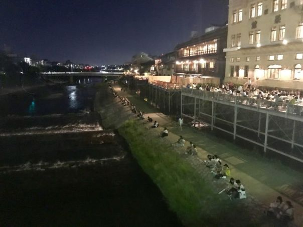 Kamo_River_at_night_kyoto_Japan_by_Heidi_Siefkas
