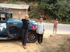 Endlich in Laos. Freundliche Menschen, aber scheuer. Ich traue mich noch nicht zu fotografieren.