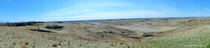 panoramic landscape of glacial lakes state park