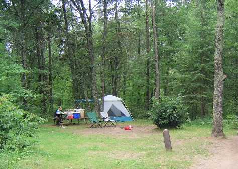 Our campsite in 2006, #211