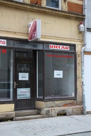 Dieser Laden steht schon seit Jahren leer.