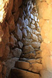 La Prisgiona: Die Treppe ist in die Außenwand integriert.