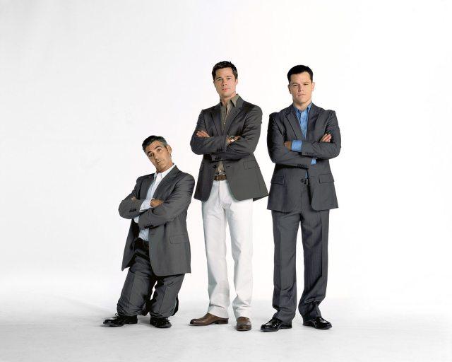 Brad Pitt's height clooney