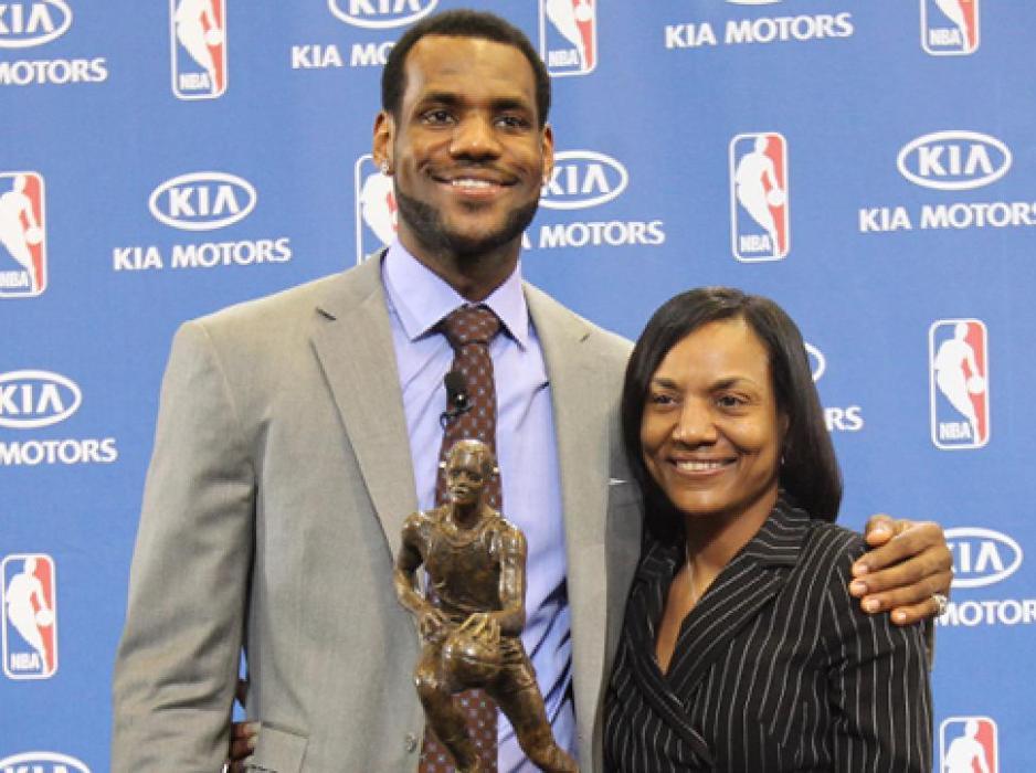 Lebron James and Mom