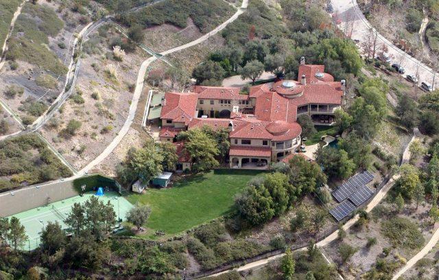 Arnold Schwarzenegger's house aerial